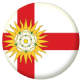 Yorkshire West Riding County Flag 25mm Flat Back
